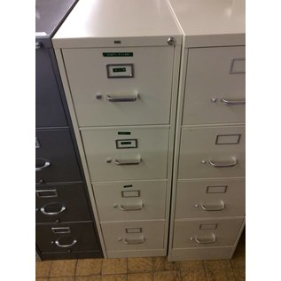 Beige 4 drawer file cabinet