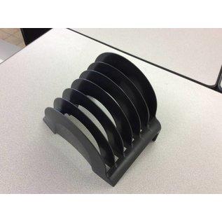 6 slot black plastic file sorter