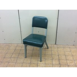 Green steelcase padded side chair
