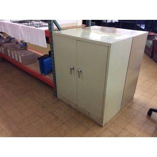 """18x36x42"""" Beige metal 2 door storage cabinet"""