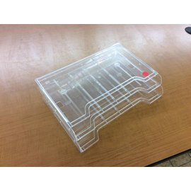 2 slot clear plastic wall mount file holder