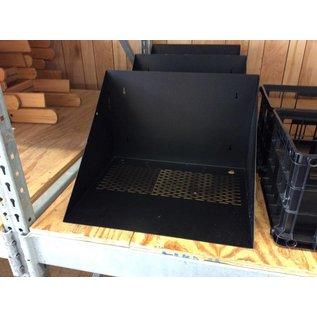 Wall mount metal A/V shelf
