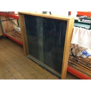 6x48x50 wood glass door wall mount display case