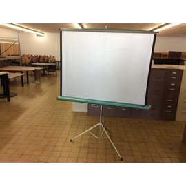 5' DA-LItE free standing Projector screen(small tear & nics)