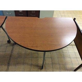 30x51x28 Wood half moon tables