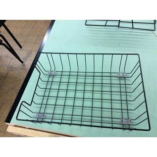 Black metal wire paper tray