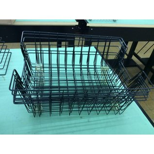 Large Black metal wire paper tray