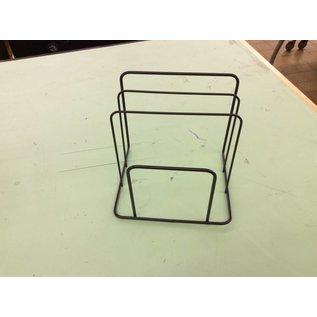 3 slot black wire file holder