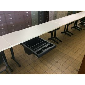 24x34x29 Table with center drawer/file box
