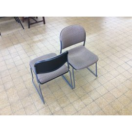 Metal frame padded  stacking chair