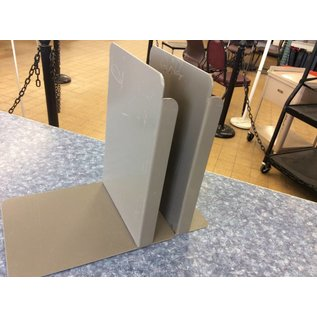 Metal bookends set of 2 grey