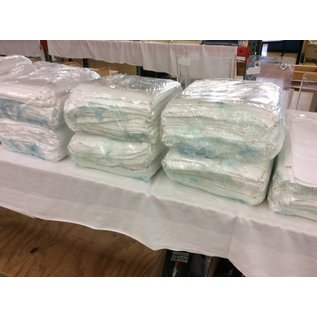 "45x45"" White table cloth's - used (15 pack)"