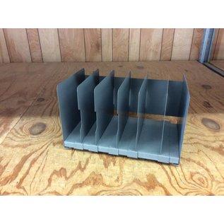 6 slot metal adjustable file holder