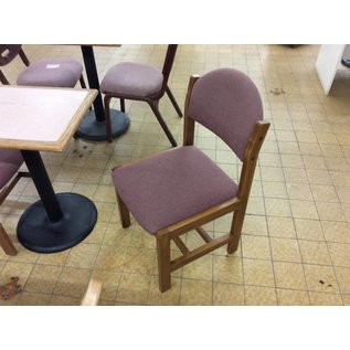Mauve padded wood frame side chair