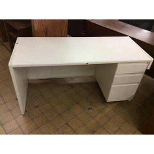 25x60x30 White right pedestal computer desk