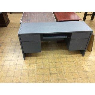 20x60x29 Grey double pedestal wood credenza