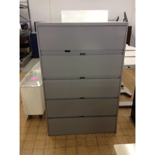 18x42x64 Grey 5 drawer lateral file