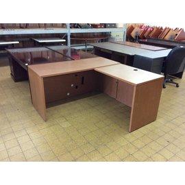"""24x60x30"""" Wood table w/30x36"""" Right return"""