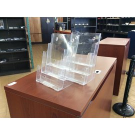Brochure holder 3 tier desktop or wall mount