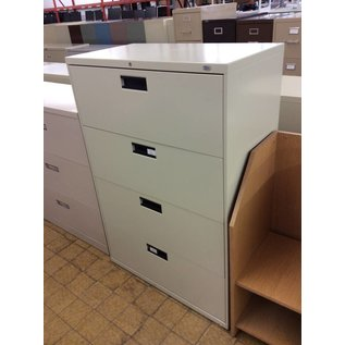 19x36x53 Beige 4 drawer lateral file cabinet