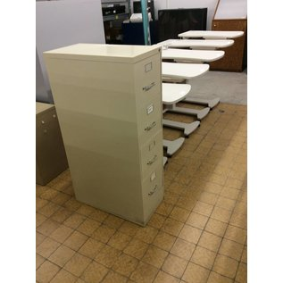 Beige 4 drawer filing cabinet