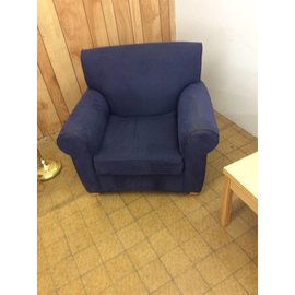 Blue living room chair