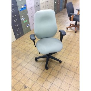 Gray high back desk chair (faded)