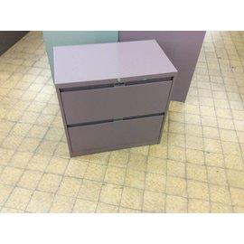 18x30x28 Mauve filing cabinet