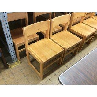 Wood frame Student desk chair