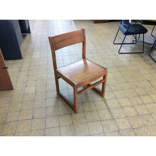Wood frame student desk chair