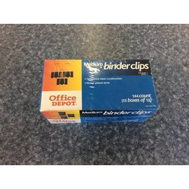 Medium binder clips (12 boxes or 12)