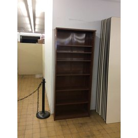 "12x36x84"" Brown metal bookcase (6/18/18)"