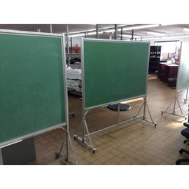 50x74 3/8x78 DBL side free standing chalk board on castors