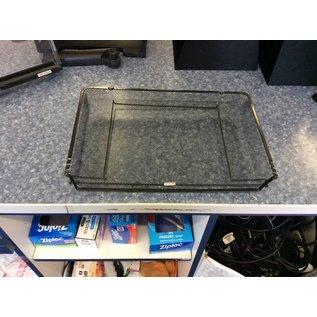 Black metal mesh paper tray