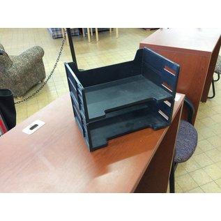 2 Tier black paper tray