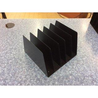 5 slot black metal file holder