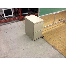 22x15x27 Tan 2 drawer filing cabinet
