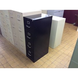 Black 4 drawer vertical file
