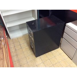 25x15x29 Black 2 drawer file cabinet