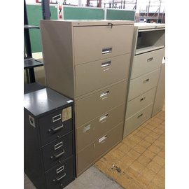 "19x36x66 3/4"" Tan 5 drawer lateral file"
