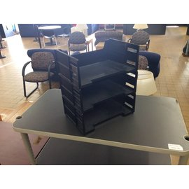 3 Tier black paper tray