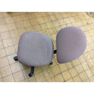 Lt gray desk chair on castors
