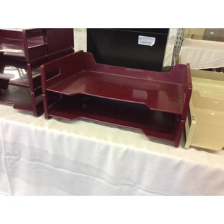 2 tier Maroon Paper Tray