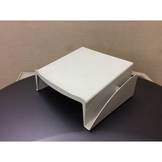 White plastic telephone stand