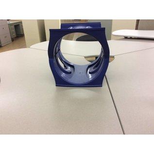 Blue plastic poster/paper tube holder