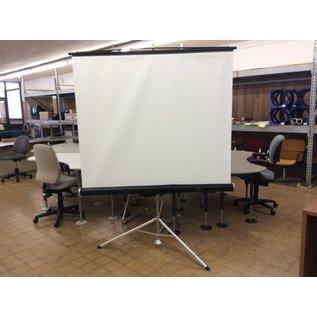"Black 60"" Diplomat Freestanding Projector screen"