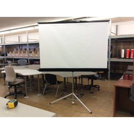 "72"" Black Freestanding Projector Screen"