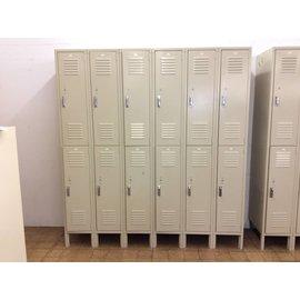 "18x72 1/4x78 1/4"" Beige metal Lockers (set of 12)"