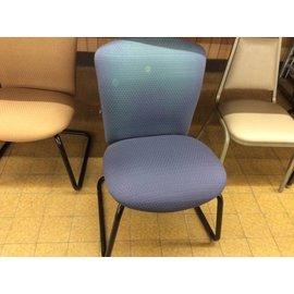 Blue side chair (fadded back)