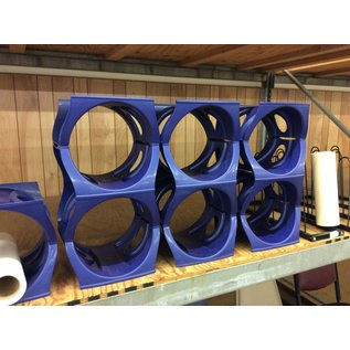 Blue plastic poster/paper tube holder (2 pc set)